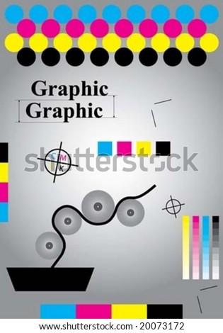 print marks - stock vector