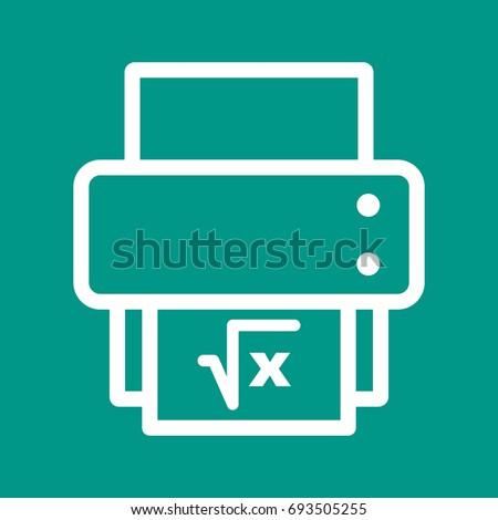 Print Math Sheet Stock Vector 693505255 - Shutterstock