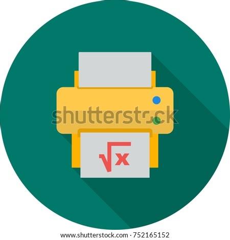 Print Math Sheet Stock Vector 752165152 - Shutterstock