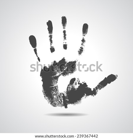 Print of hand of man, cute skin texture pattern,vector grunge illustration - stock vector