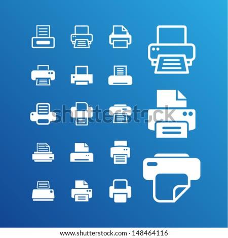 Print pictogram - stock vector
