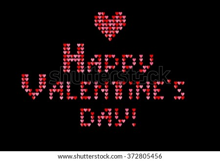Print with hearts for Valentines Day - stock vector