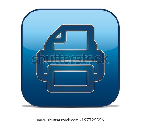 print with square button - stock vector