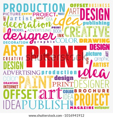 PRINT Word Cloud Creative Business Concept Background