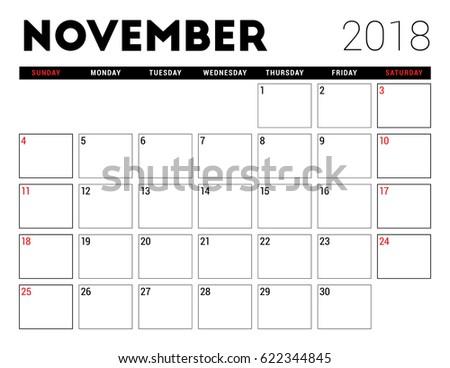 printable calendar 2018 november