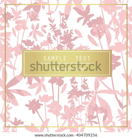 Printable spring wall art with floral pattern and typography. Vector template with flowers for invitation, posters, flyers, journal cards, scrapbook. - stock vector