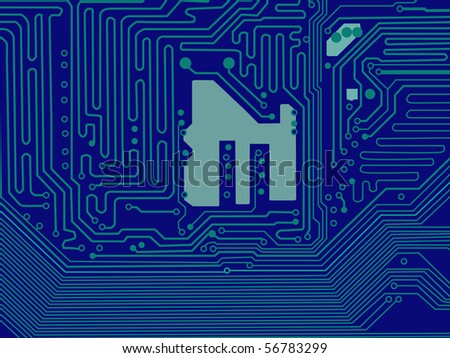 Printed Circuit Board Pattern - stock vector
