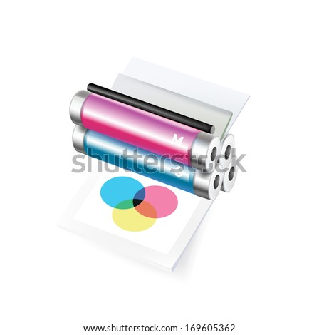 printer isolated on white background - stock vector
