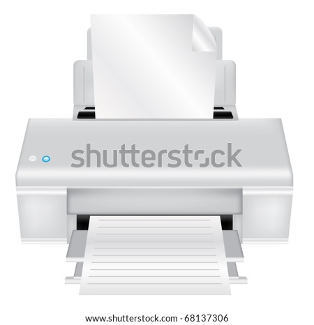Printer on a isolated background,vector - stock vector