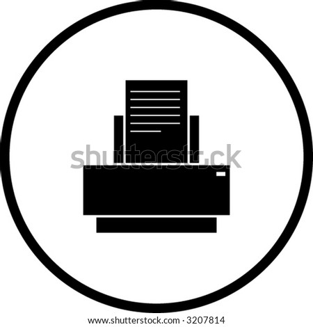 printer symbol - stock vector