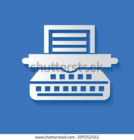 Printer symbol,clean vector - stock vector