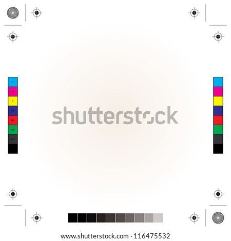 printing, cutting and calibration marks - stock vector