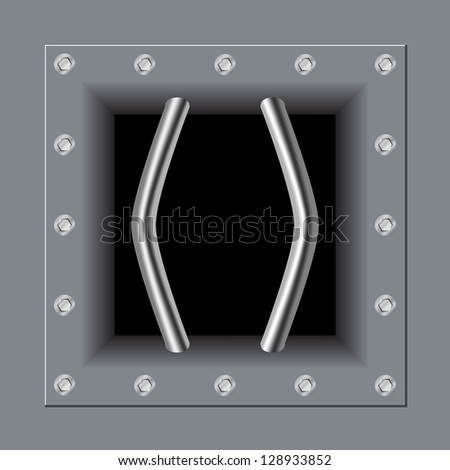 prison bars distorted - stock vector