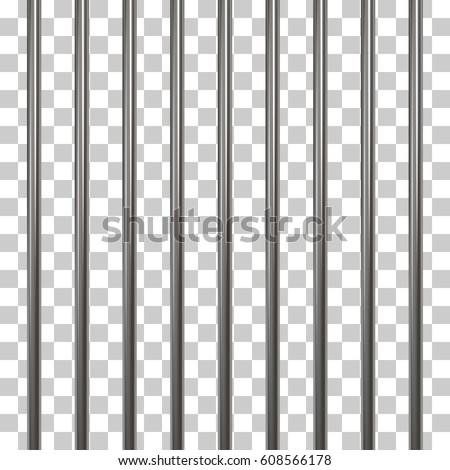 Prison Bars Isolated On Transparent Vector Em Vetor Stock 608566178    Shutterstock