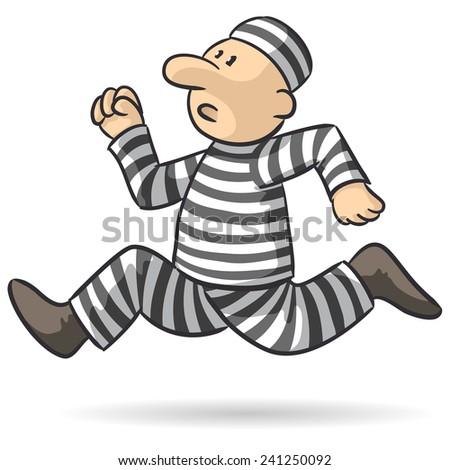 prison break - stock vector