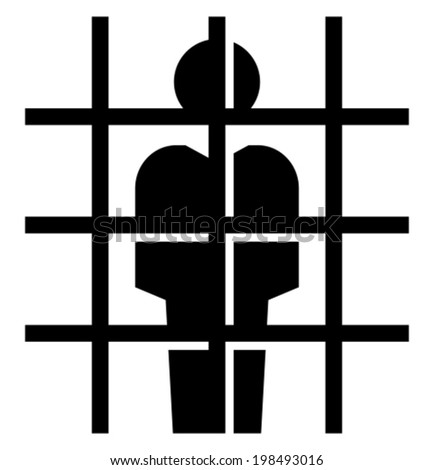 Prisoner icon - stock vector