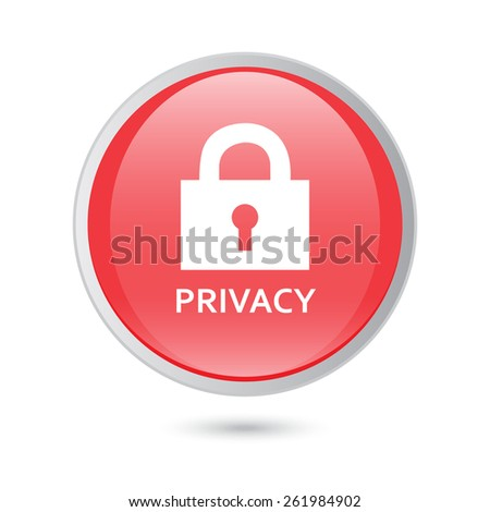 privacy bllue icon. eps 10 - stock vector