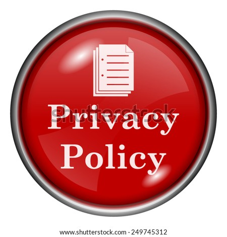 Privacy policy icon. Internet button on white background.  - stock vector