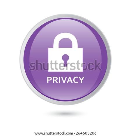 privacy violet icon. vector icon - stock vector
