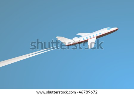 Private Jet Takeoff  Stock Vector