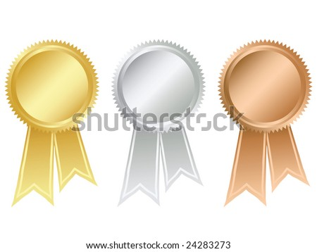 Prize medals - stock vector