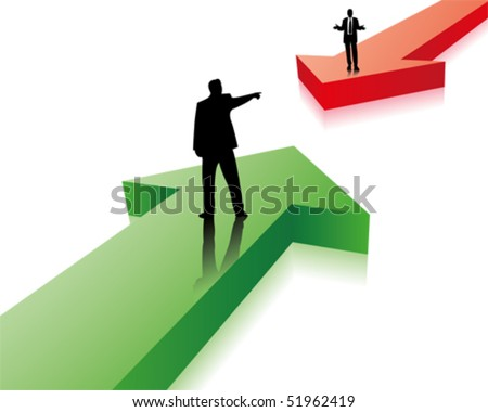 pro and contra - stock vector
