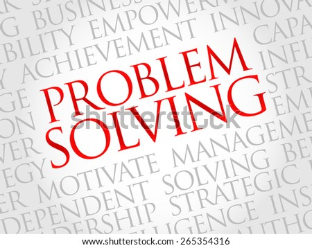 Problem solving word cloud, business concept - stock vector