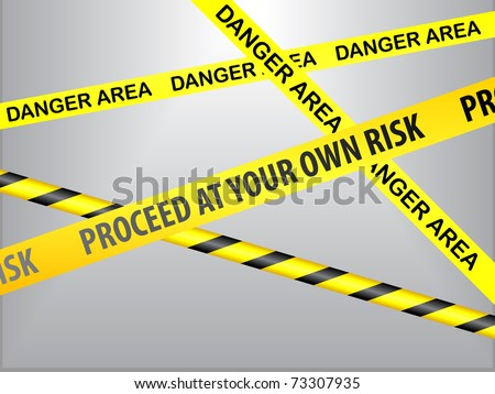 proceed at your own risk - stock vector