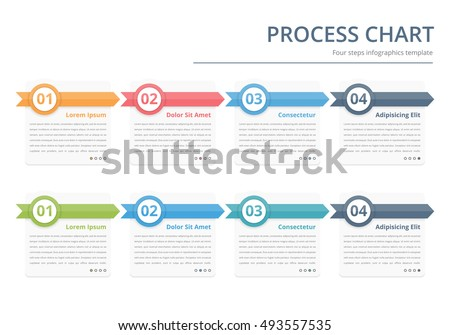 Process Chart Flow Chart Template Infographics Stock Vector