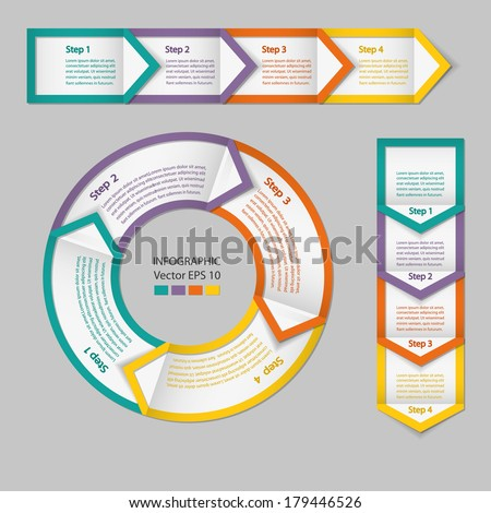 Process chart module. Infographics. - stock vector