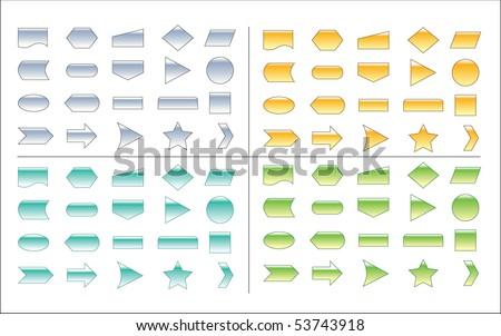Process Chart Shapes - stock vector