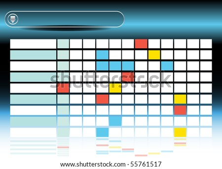 Process Diagram - stock vector