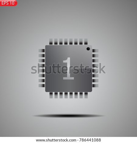 Processor Brain Thinking Chip Core Mega Stock Vector 786441088 ...