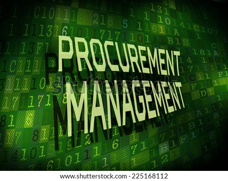 procurement management words isolated on internet digital background  - stock vector