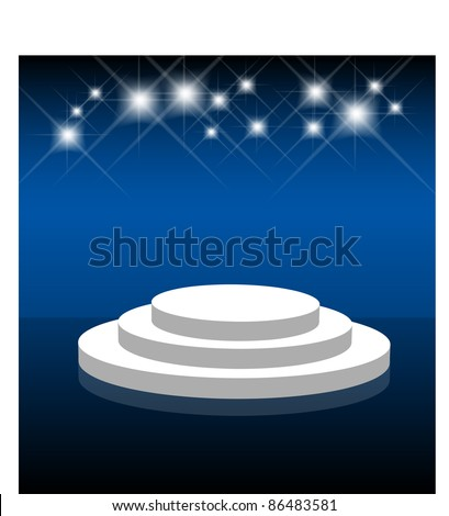 Product display or stage, eps10 vector - stock vector