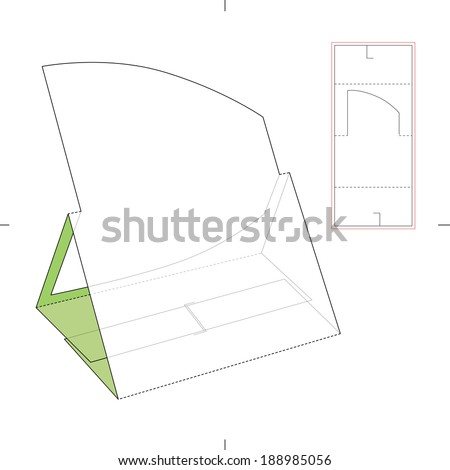 Product Display Stand with Diecut Pattern  - stock vector
