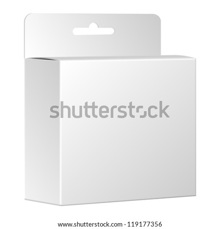 Product package box isolated on white background. Vector, eps 10 - stock vector