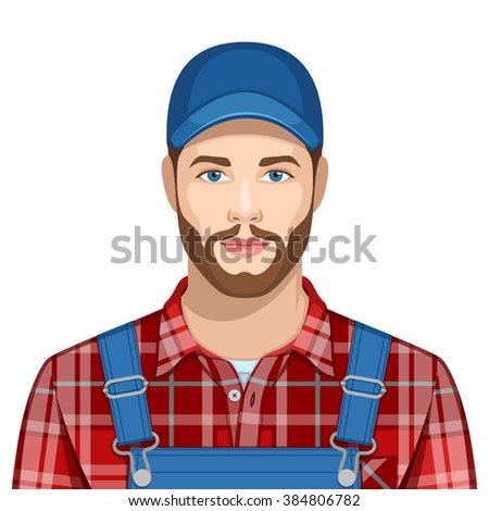 Profession: Farmer - stock vector