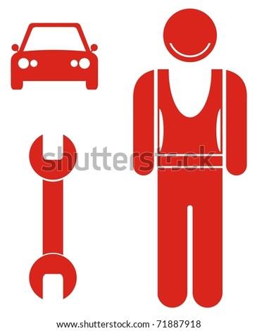 profession - mechanic - stock vector
