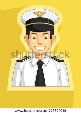 Profession - Pilot - stock vector