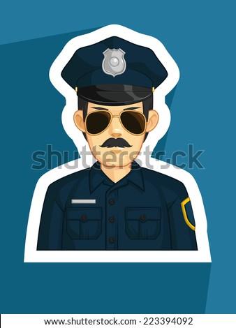 Profession - Police - stock vector