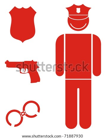 profession - police officer - stock vector