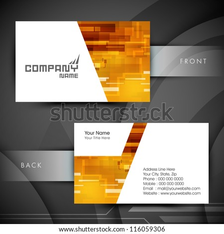 Professional and designer business card set or visiting card set. EPS 10. - stock vector