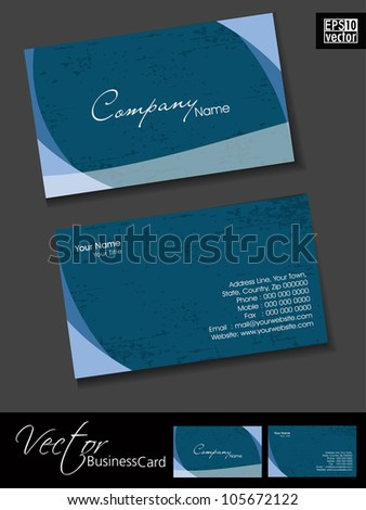 Professional and designer business card template or visiting card set. EPS 10. - stock vector