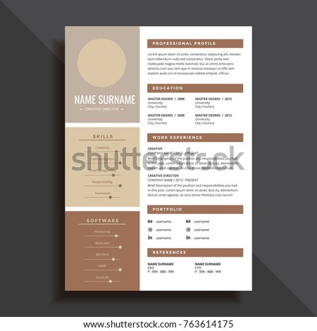 Professional simple resume cv template design professional and simple resume cv template design yelopaper Images
