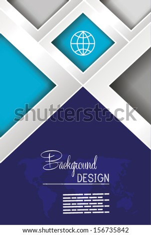 Professional business blue flyer template, brochure or cover design or corporate banner design for publishing, print and presentation. EPS 10. - stock vector
