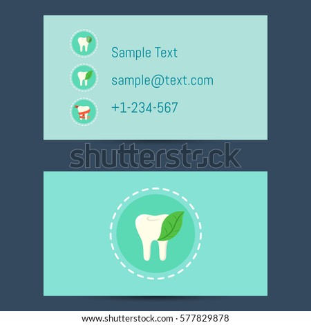 Professional business card template dentists round stock vector hd professional business card template for dentists with round tooth icon on blue background vector illustration accmission Gallery