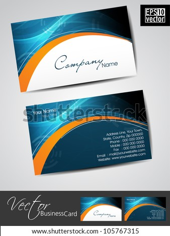 Professional Business Cards Template Visiting Card Stock Vector - Professional business card templates