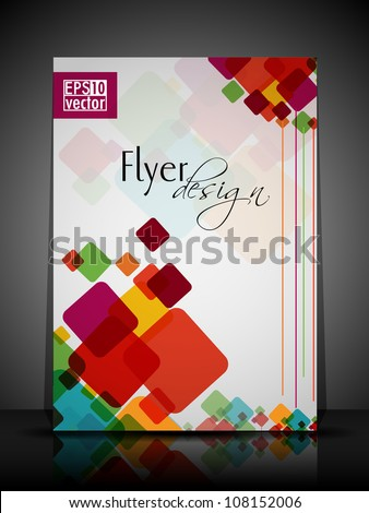Professional business flyer, brochure or cover design for publishing, print and presentation. Vector illustration in EPS 10. - stock vector