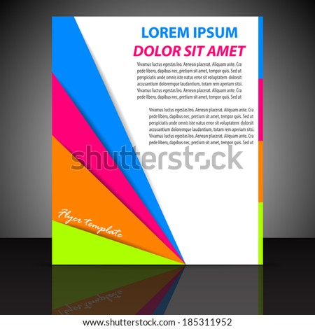 Professional business flyer template  - stock vector